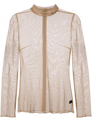Сетчатая блузка Undercover. Цвет: коричневый