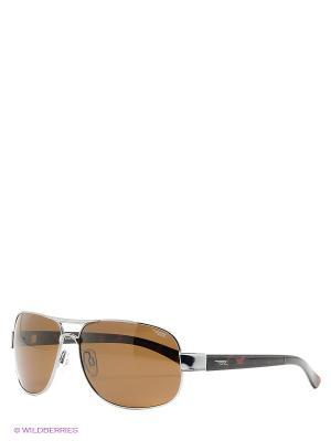 Очки Legna. Цвет: серебристый, коричневый