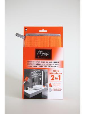 Перчатка из микрофибры для плитки и керамики Microfiber gloves Tiles & Ceramics, 22 х 14 см Hagerty. Цвет: оранжевый