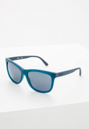Очки солнцезащитные DKNY. Цвет: синий