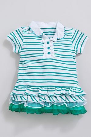 Платье MAIA BABY. Цвет: зеленый