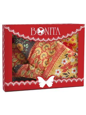 Полотенце кухонное BONITA. Цвет: черный, красный, оранжевый, желтый