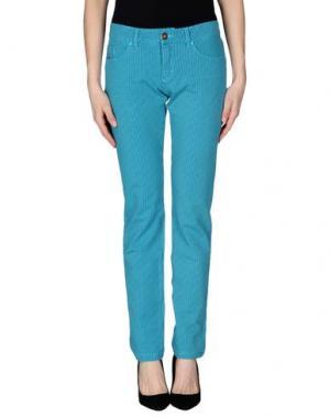 Повседневные брюки PRAIO. Цвет: бирюзовый