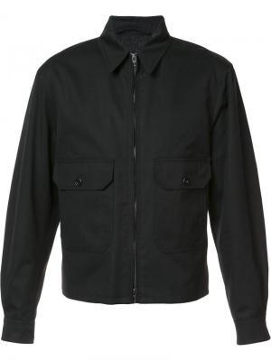 Куртка-бомбер на молнии Lemaire. Цвет: чёрный