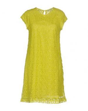 Короткое платье GAZEL. Цвет: кислотно-зеленый