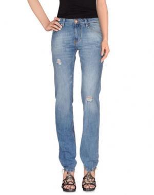 Джинсовые брюки ACHT. Цвет: синий