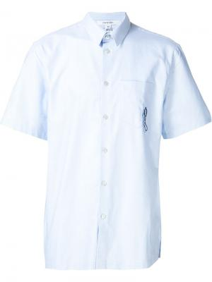 Рубашка с короткими рукавами Carven. Цвет: синий