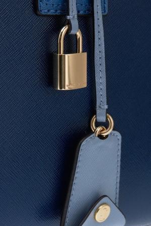 Кожаная сумка с логотипом Big Shot Marc Jacobs. Цвет: синий