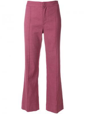 Слегка расклешенные брюки Isabel Marant Étoile. Цвет: розовый и фиолетовый