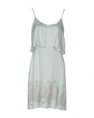 Короткое платье ROBERTA SCARPA. Цвет: светло-зеленый