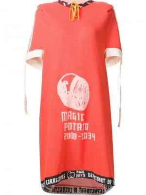 Cone dress Bernhard Willhelm. Цвет: жёлтый и оранжевый