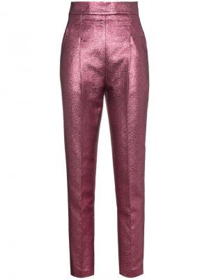 Жаккардовые брюки с завышенной талией Philosophy Di Lorenzo Serafini. Цвет: розовый и фиолетовый