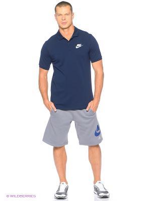 Футболка-поло M NSW POLO PQ MATCHP Nike. Цвет: синий
