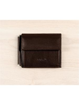 Зажим для денег, с монетником, Brown Domenico Morelli. Цвет: коричневый