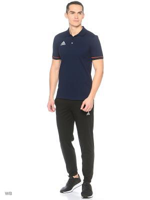 Футболка-поло Adidas. Цвет: темно-синий