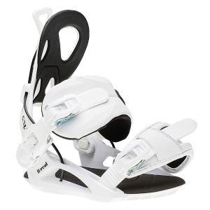 Крепления для сноуборда  B-real Bind White GNU. Цвет: черный,белый