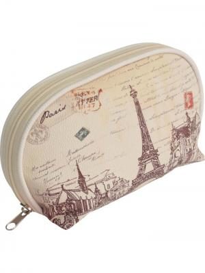 Косметичка  серия Парижская мода Dewal. Цвет: бледно-розовый, белый