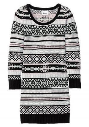 Трикотажное платье. Цвет: бирюзовый/темно-коричневый с рисунком, светло-серый/мятный с рисунком, темно-розовый/светло-серый меланжевый с рисунком