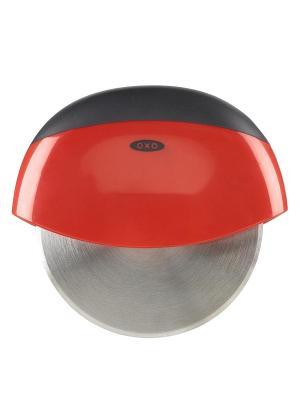 Нож для пиццы OXO 1270980. Цвет: серый, красный