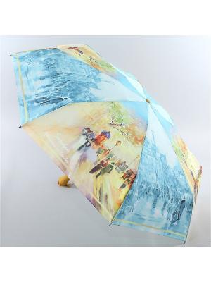 Зонт Zest. Цвет: бирюзовый, серый
