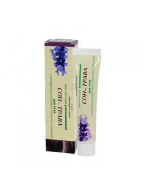 Крем бальзам успокаивающий для тела Сон трава с экстрапоном шелкового молочка и лавандой Корвет Вито. Цвет: салатовый