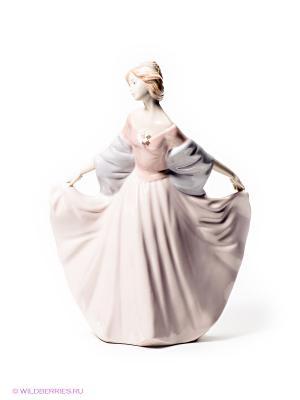 Статуэтка Леди Pavone. Цвет: розовый, сиреневый, бежевый