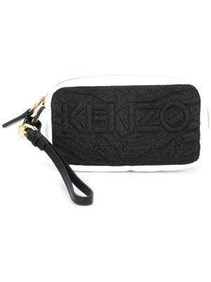 Кошелек для монет Kombo Kenzo. Цвет: чёрный