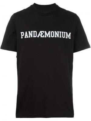 Футболка Pandemonium Oamc. Цвет: чёрный