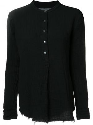 Рубашка с воротником-стойка Raquel Allegra. Цвет: чёрный