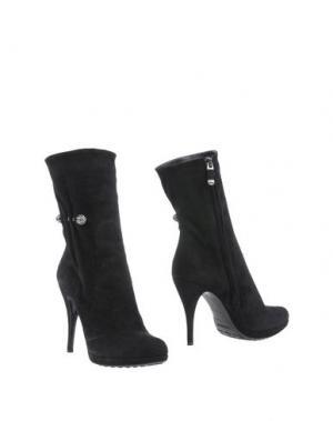 Полусапоги и высокие ботинки LORIBLU. Цвет: черный