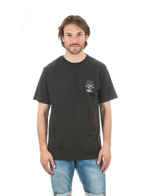 Футболка  BACK TO THE SEARCH SS TEE Rip Curl. Цвет: черный