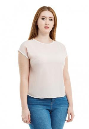 Блуза XLady. Цвет: бежевый