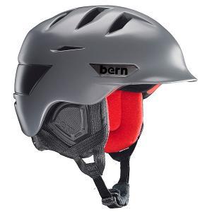 Шлем для сноуборда  Snow Zipmold Rollins Satin Grey/Black Liner Bern. Цвет: серый