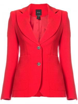 Пиджак с фигурными лацканами Smythe. Цвет: красный