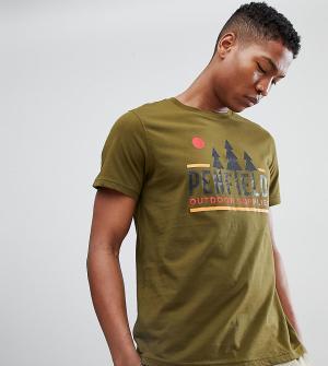 Penfield Эксклюзивная зеленая футболка с логотипом. Цвет: зеленый
