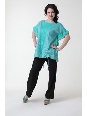 Блуза DizzyWay. Цвет: светло-зеленый
