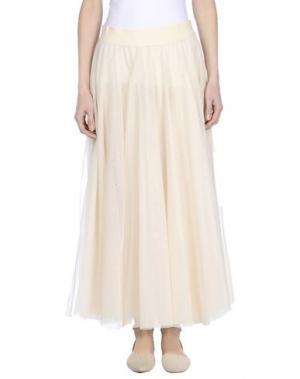 Длинная юбка X'S MILANO. Цвет: бежевый