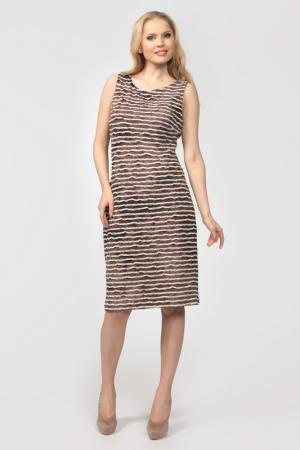 Платье Frank Lyman Design. Цвет: коричнево-белый