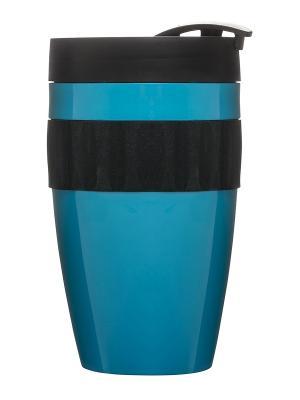 Термокружка бирюзовый/черный Sagaform. Цвет: бирюзовый