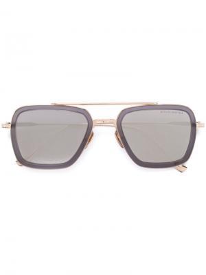Солнцезащитные очки Flight 006 Dita Eyewear. Цвет: металлический