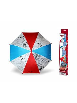Чудо-творчество. Зонтик для раскрашивания Тачки 2. Молния МакКуин и Мэтр, Дисней. Чудо-творчество. Цвет: белый, желтый, синий