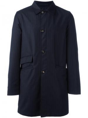 Двустороннее пальто Kiton. Цвет: синий