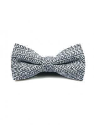 Галстук-бабочка Churchill accessories. Цвет: черный, серый, темно-серый, белый