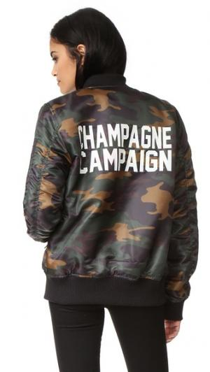 Бомбер Champagne Campaign Private Party. Цвет: камуфляж