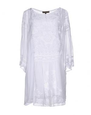 Короткое платье MARIAGRAZIA PANIZZI. Цвет: белый