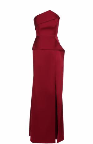Платье-бюстье с оборками Roland Mouret. Цвет: бордовый