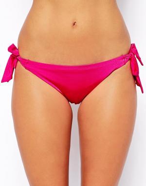 Hoola Бикини-трусики на завязках Shimmer. Цвет: розовый