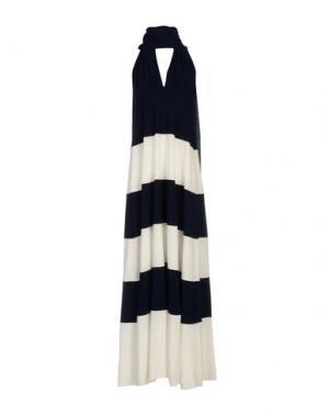 Длинное платье VON VONNI. Цвет: ярко-синий
