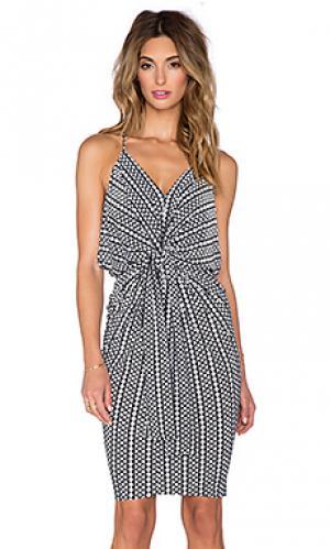 Мини платье T-Bags LosAngeles. Цвет: black & white