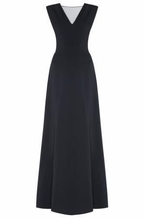 Шелковое платье NATALIA GART. Цвет: черный